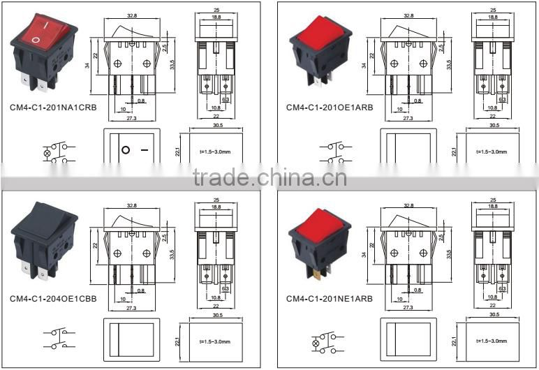 4 Prong 4 Pin Rocker Switch Wiring Diagram from timg.china.cn