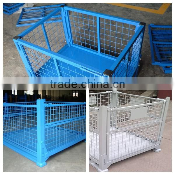 Lockable Logistic Folding wire mesh container steel storage cage ...