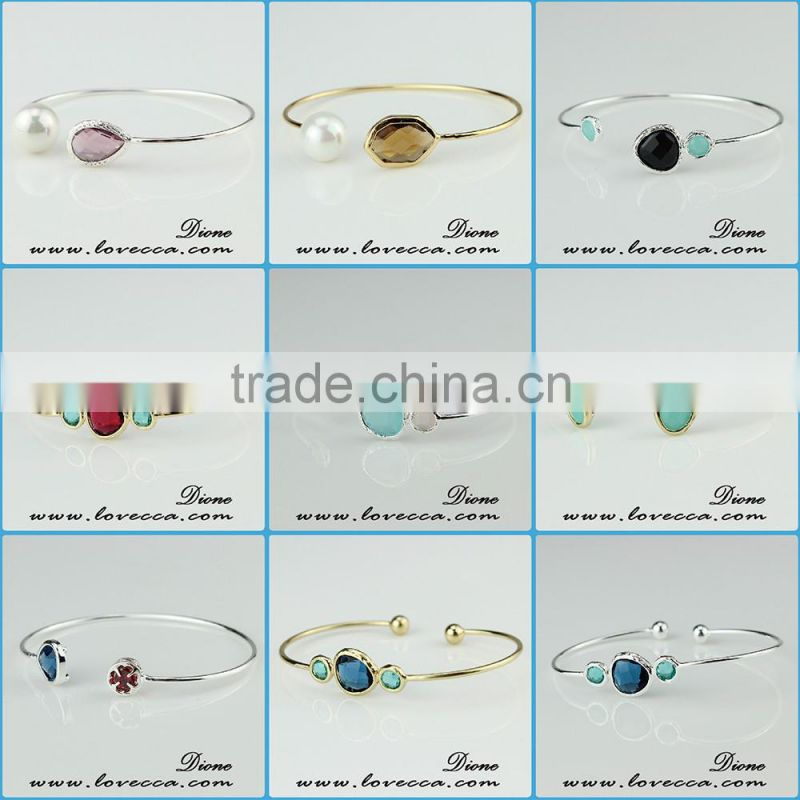 Best selling Aquamarine Gemstone Jewelry Birthstone Bracelets for Mom