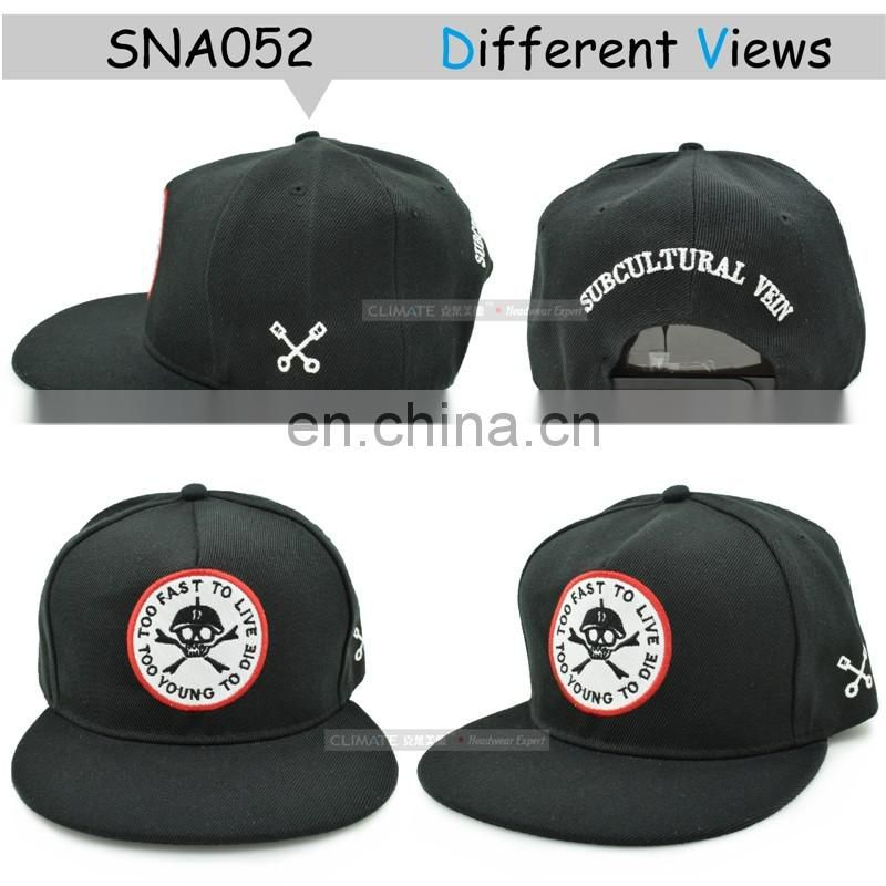 New Style Bratson From Chaos Famous Skull BoneWarrior Dancer Adjustable hiphop Snapback cap hat for young men women boys girls