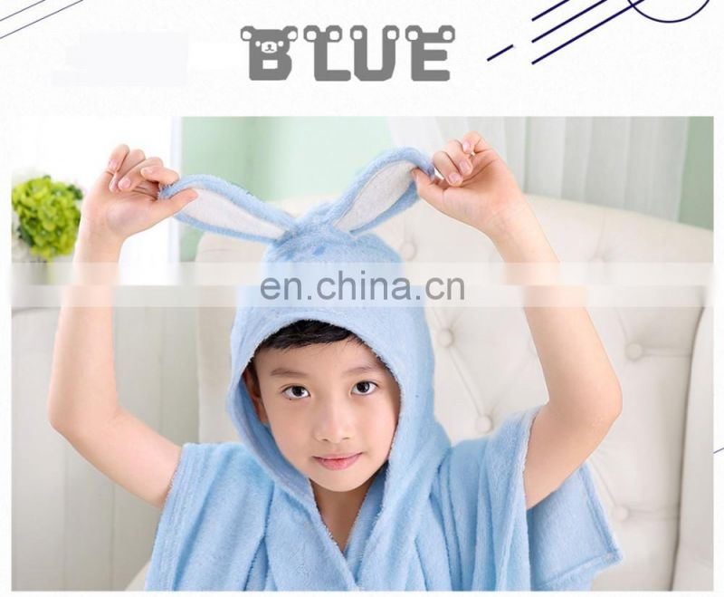 bamboo fabric lovely animal cartoon hooded baby towel wholesale