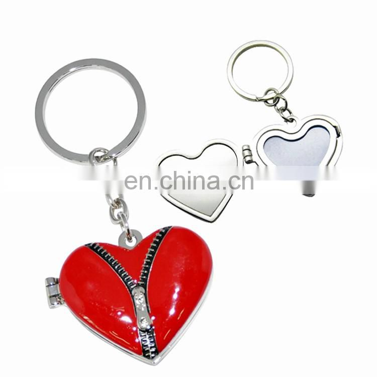 High quality leather and metal keychain custom logo