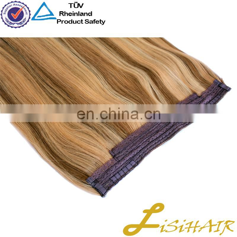 Hair Supplier Top Grade Double Drawn Soft No Shedding Halo Hair Crown Extension