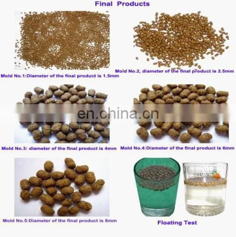 Automatic Float Fish food pellet machine with 3 free moulds