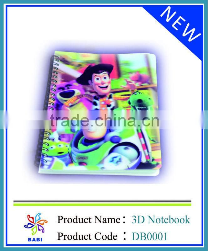 Custom school agenda 3D notebook
