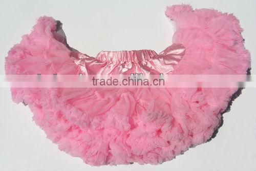 Girls Tutu Skirt Kids Dancewear Cute Chiffon Tutu Baby Full Pettiskirt Princess Skirt Black with Light pink
