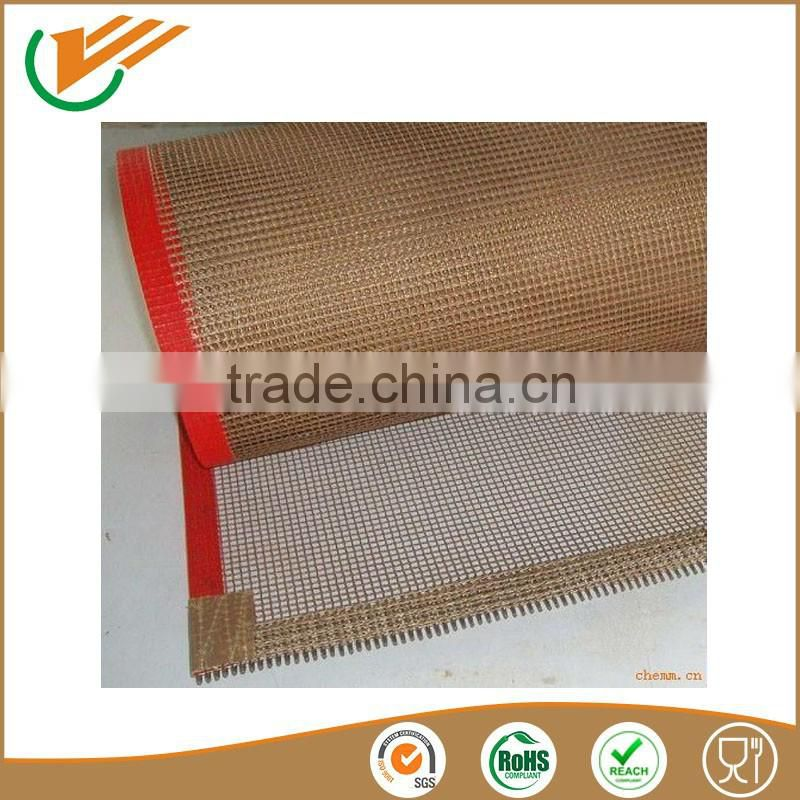 2015 new products PTFE Teflon Coated Fiberglass teflon mesh conveyor belt for textile machine
