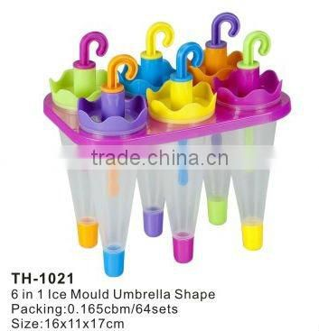 ice lolly mold 6 in 1 ice Mould umbrella shape popsicle mould