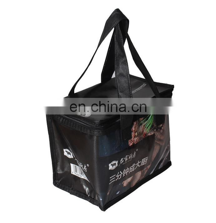 black lunch bag cooler