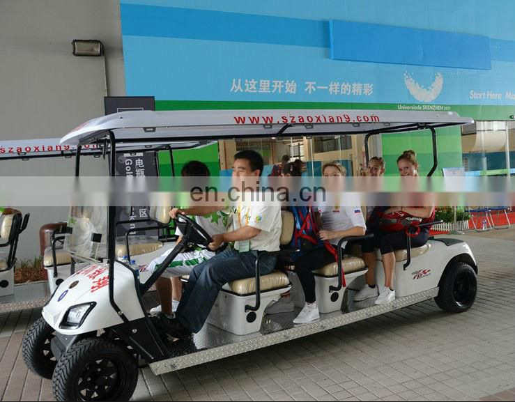 Best selling 4.4KW 48V 12 seater electric passenger golf cart with 4-wheel from OEM factory