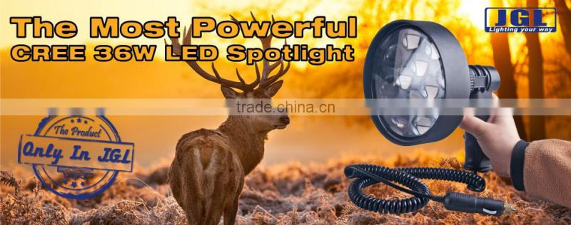 led marine searchlight RLS-9936 36w rechargeable hunting spotlight from guangzhou JGL