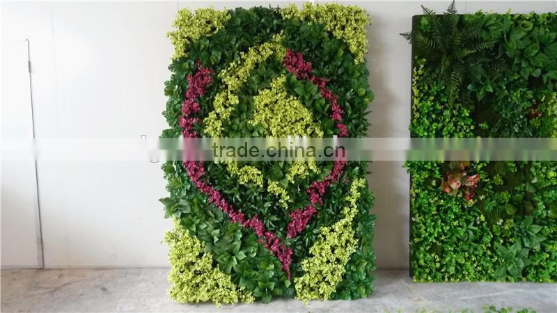 Home and outdoor decoration synthetic cheap 1m x 1m artificial vertical green grass wall E08 04C02