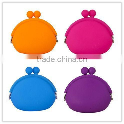 New arrival Candy-colored animal silicone coin purse/ children bags wallet