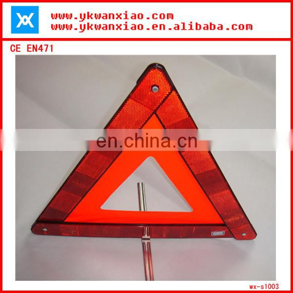 china plastic safety triangle kits,high brightness triangle,accident warn triangle