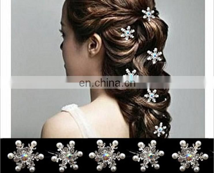 New design colorful flower hairpin for bride,women moth orchid hair clips
