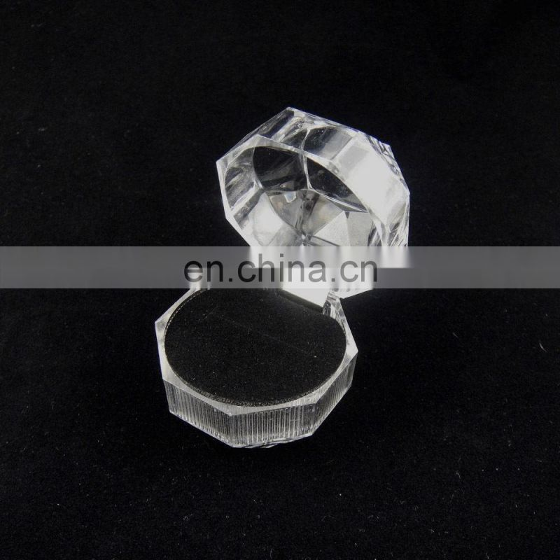 3 color Jewelry Pretty Clear Acrylic Crystal Ring Earrings Gift Boxes