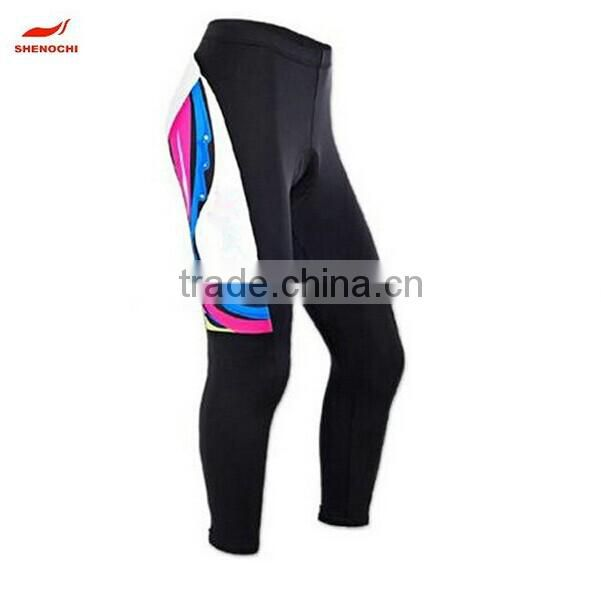 Quick-drying Polyester Spendex Cycling Long Pants Men's Breathable Quick Drying Outdoor Sports Bicycle Cycling Long Tight pants Image