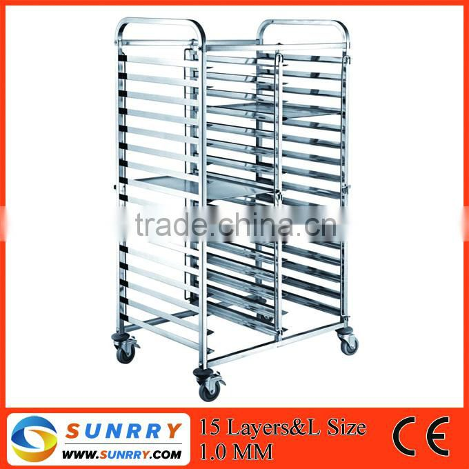 Hot Sales Stainless Steel 15 Layers Cargo Trolley Cart And Hand Trolley Size