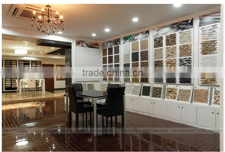 GF5017S beautiful marble stone mosaic patterns art marble floor mosaic medallions patterns jade mix glass mosaic