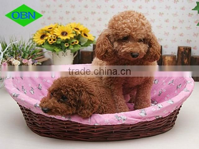Hot sell high quality natural black wicker dog bed basket