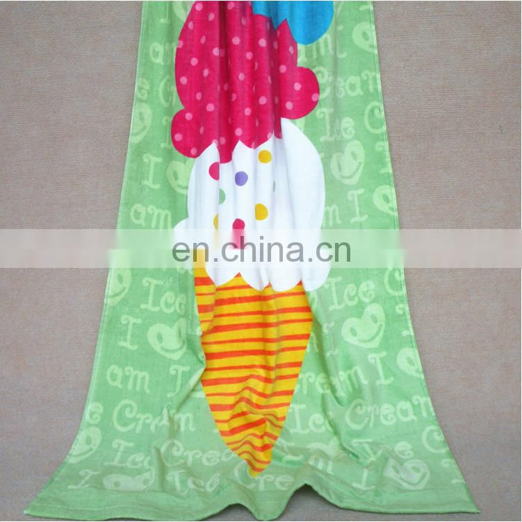 wholesale printed 100% cotton beach towel for baby with good absorption
