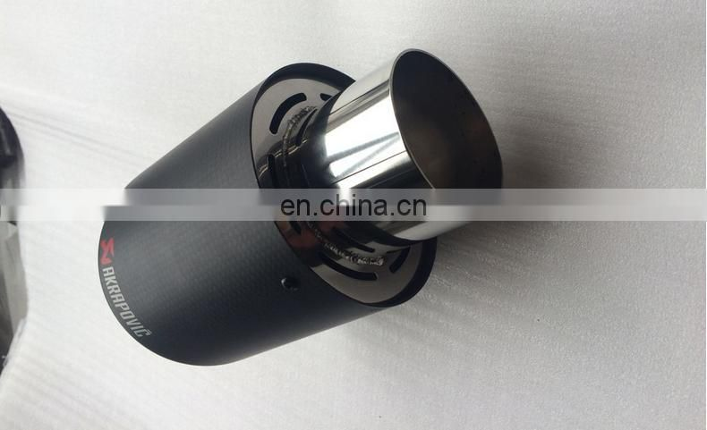 Stainless steel carbon fiber exhaust tip/exhaust tail pipe