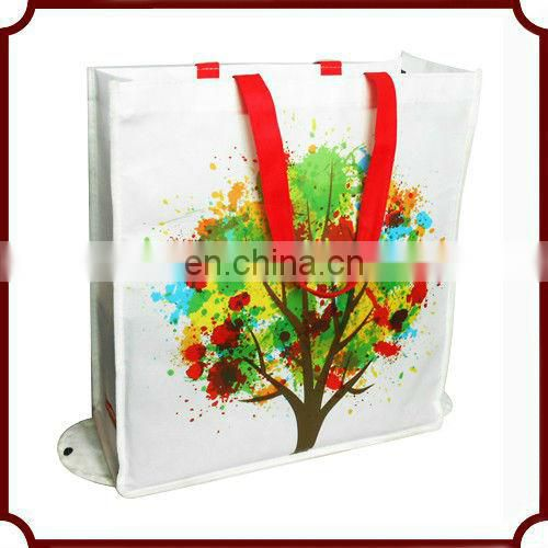 custom design eco-friendly reusable advertising animal feed pp woven bag