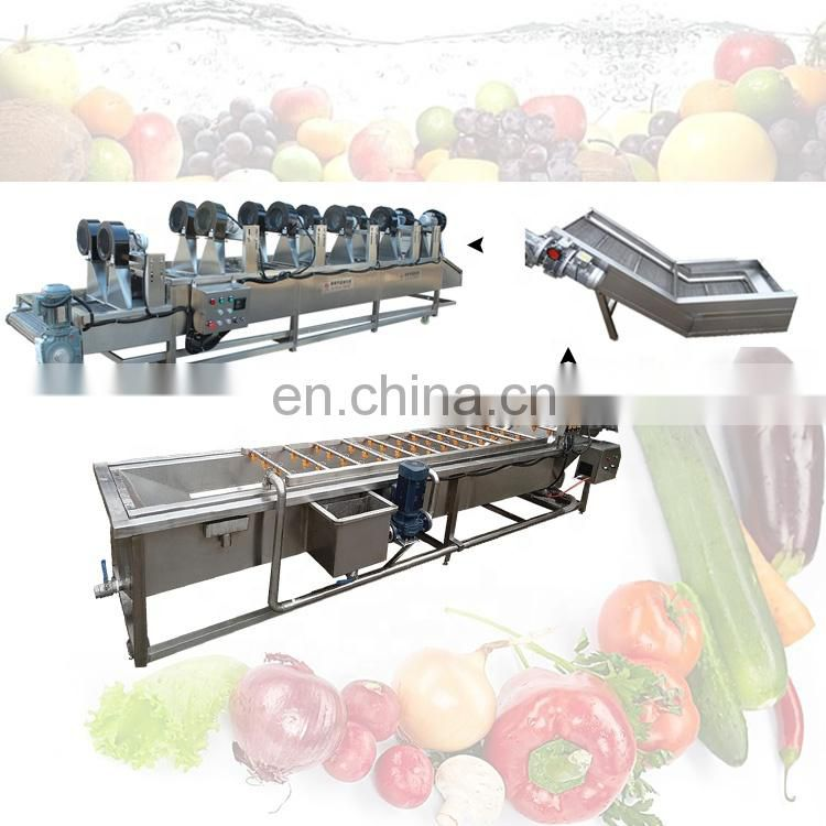 vegetable washing machine industrial bubble washing machine vegetable washing line Image
