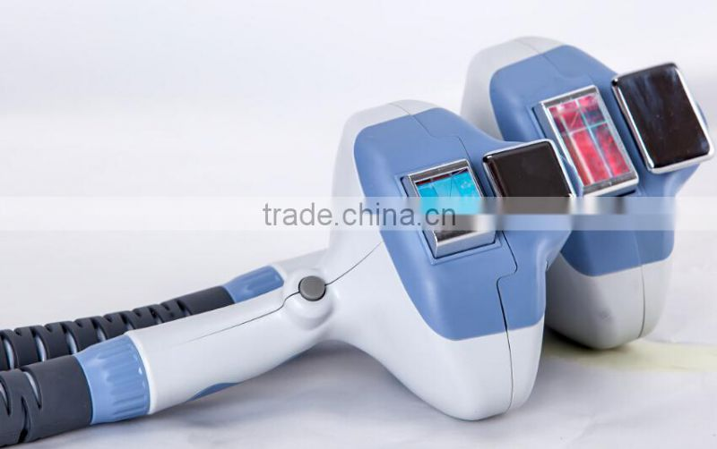 2015 Excellent Ergonomic Designed Painless IPL SHR hair removal equipment 2 handles big spot 40*25mm