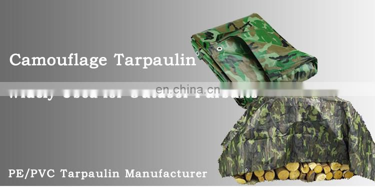 Outdoor Utility Heavy Duty China Factory Price Camouflage PE Tarp