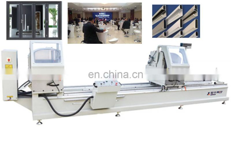 Double-head miter saw window machine manufacturer manufacture lock hole groove processing with cheap price