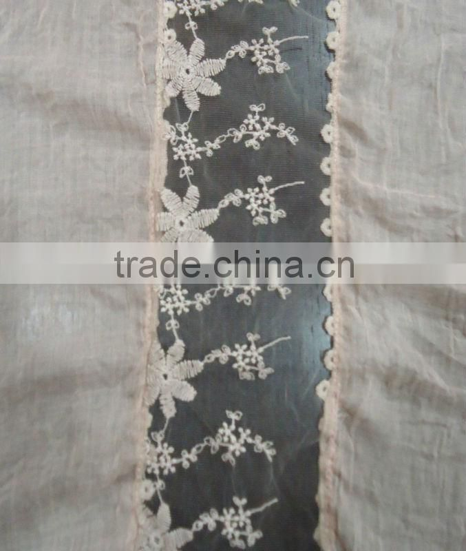 100% Polyester Solid Lace Scarf