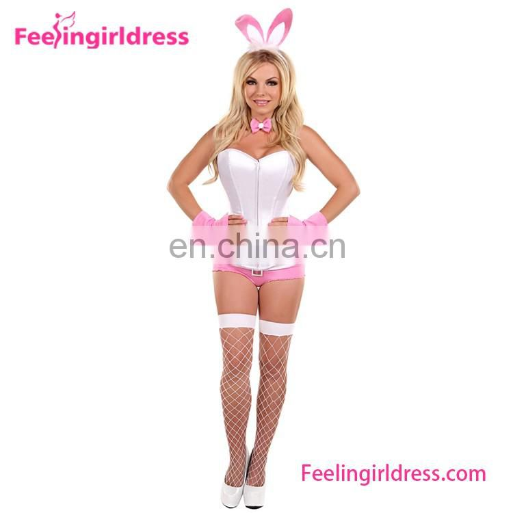 Charming Lady Zipper Leopard Cheap Corsets Costumes Design