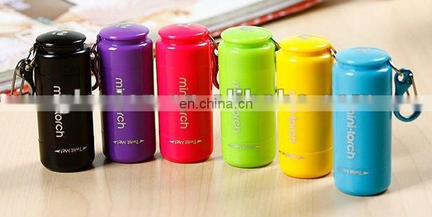 Hot sale promotional gift mini torch printing LED mini torch cool led flashlights torch