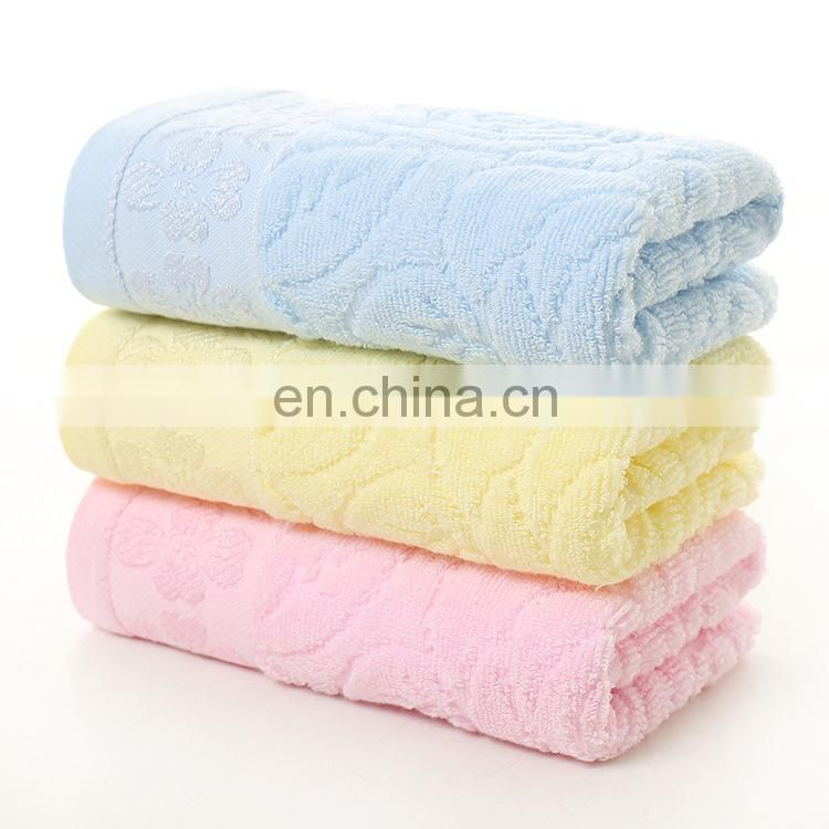 High Quality Excellent Absorption Jacquard 100% Cotton Face Towel