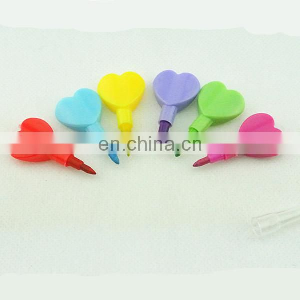 4 stacking pencil purple and blue heart shaped stacker pencil