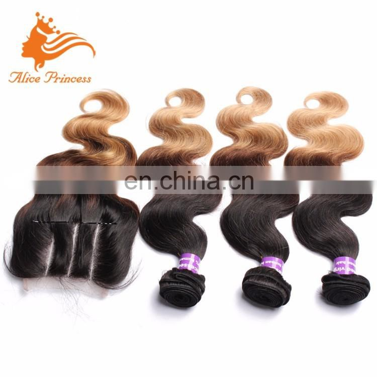 Aliexpress Sale Online Bright Color Body Wave No Shedding Vrigin Remy Hair Silk Closure With Bundles