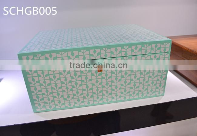 Customized high gloss wooden jewellery box