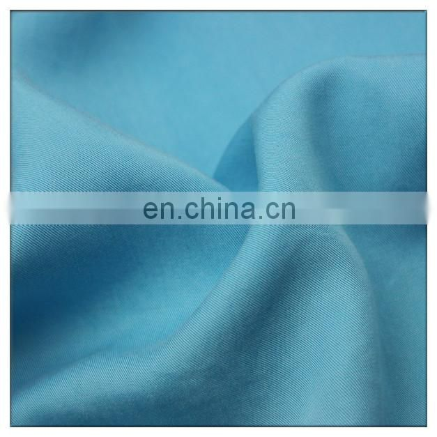100% tencel fabric twill 200gsm tencel dyeing fabric