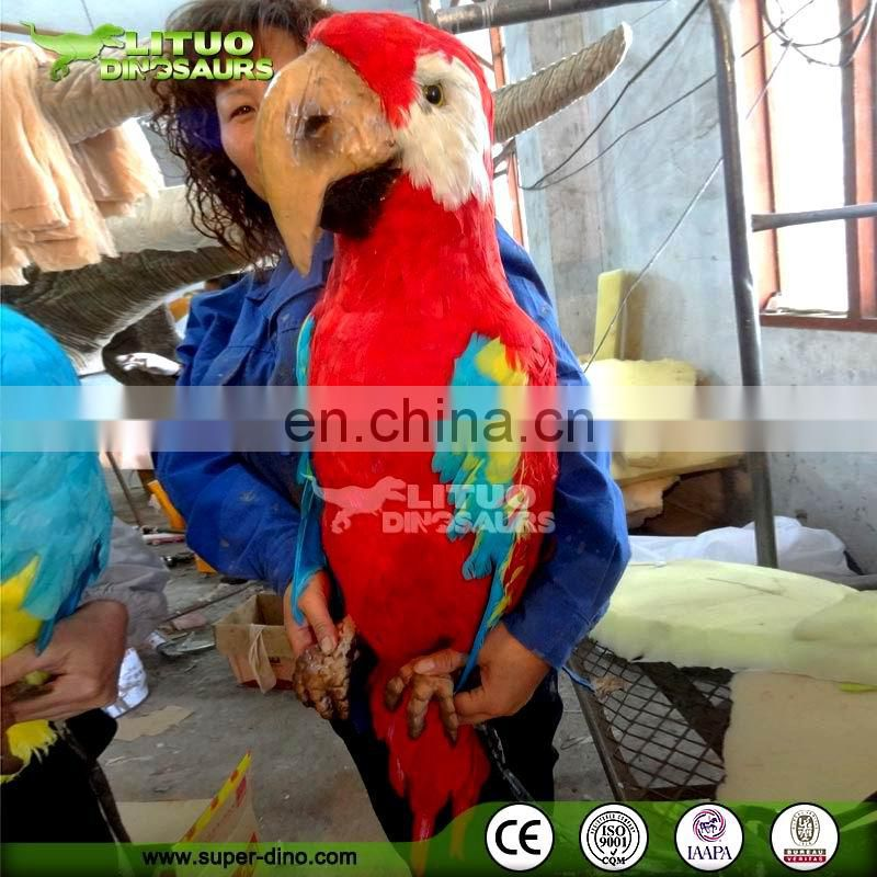 Life Like Garden Decoration Life Size Animal Parrot Model