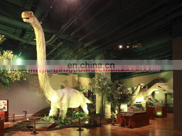 High-tech dinosaur science museum specimen replicas