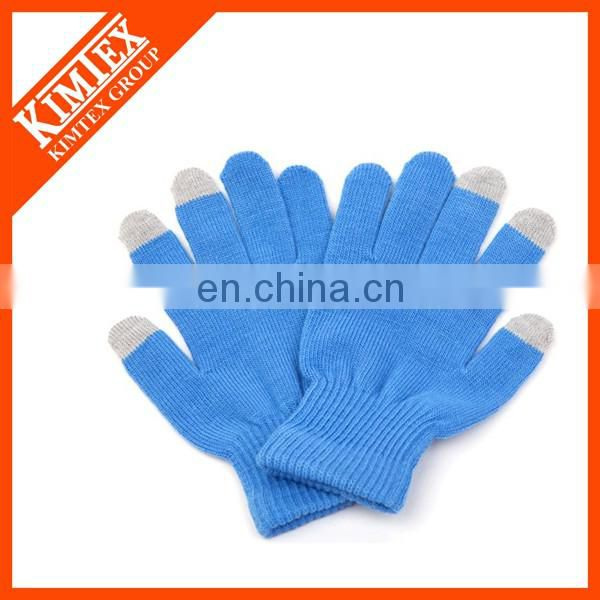 Acrylic knit touch gloves