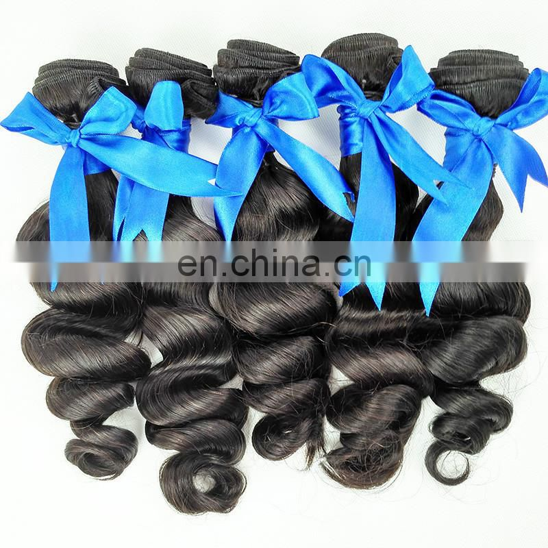 Wholesale top quality no tangle 100% virgin human hair weave 8A grade malaysian hair bundles loose wave