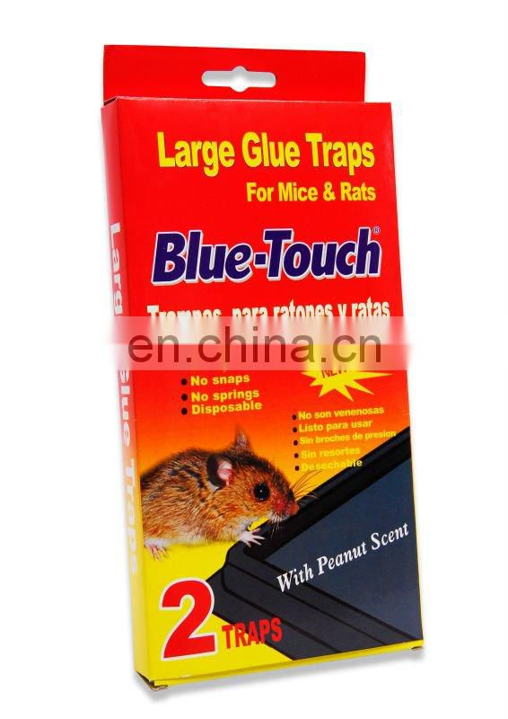 "Blue-Touch Peanut Scented Mouse Control Glue Plastic Board Traps ""Case of 60"" - BAITED -2 Traps"