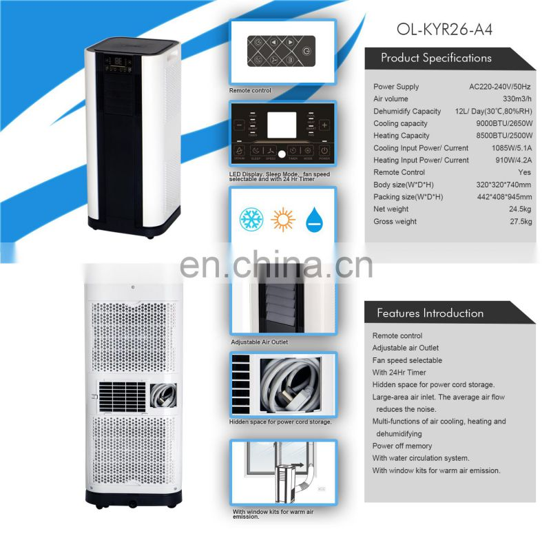 Portable air conditioners 9000BTU airconditioning