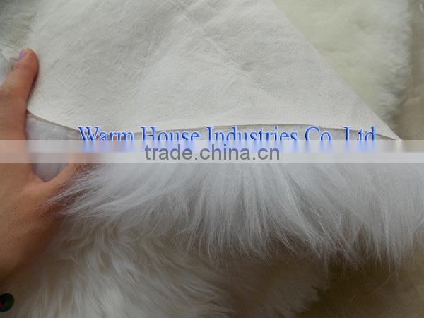 100% Wholesale pure white sheepskin rugs for baby /australian sheepskin rugs/long hair sheepskin rug for baby