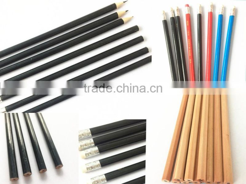 HB wooden pencils, 7 inch black lead pencil with eraser