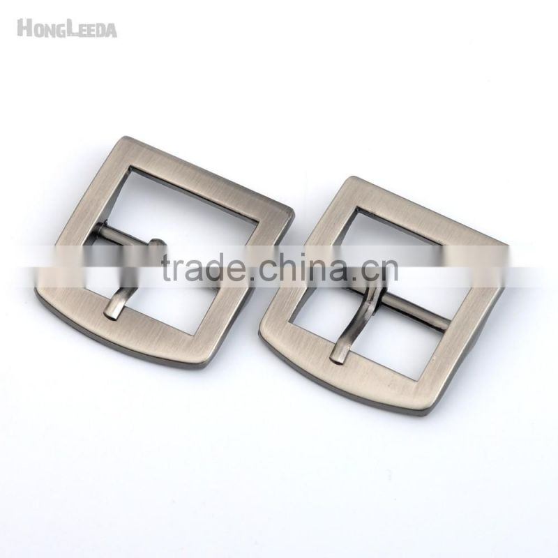 25mm 1inch square metal alloy buckle pin belt bag buckle high polish black nickle Brush color Craft accessories BK-013