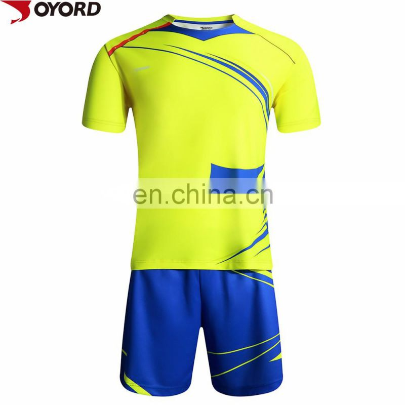 custom colorful china guangzhou cheap football teams t shirts wholesale sublimated blank soccer jersey