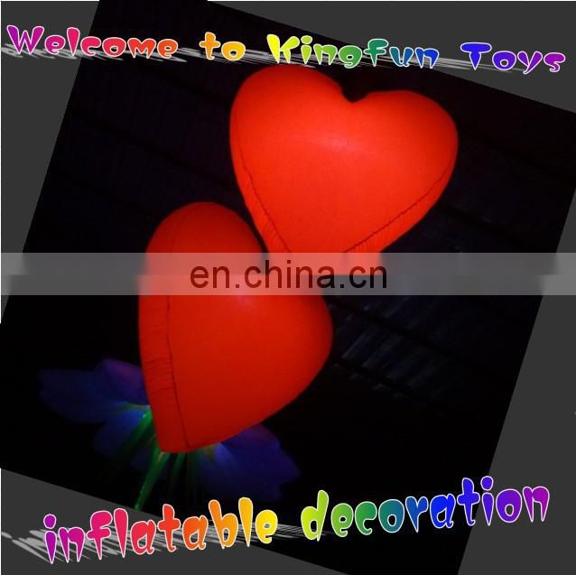 2014 Festival/club/party LED decorative inflatable lighting heart